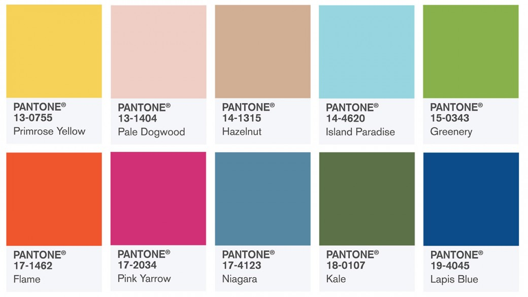 Spring colors report 2017 Pantone