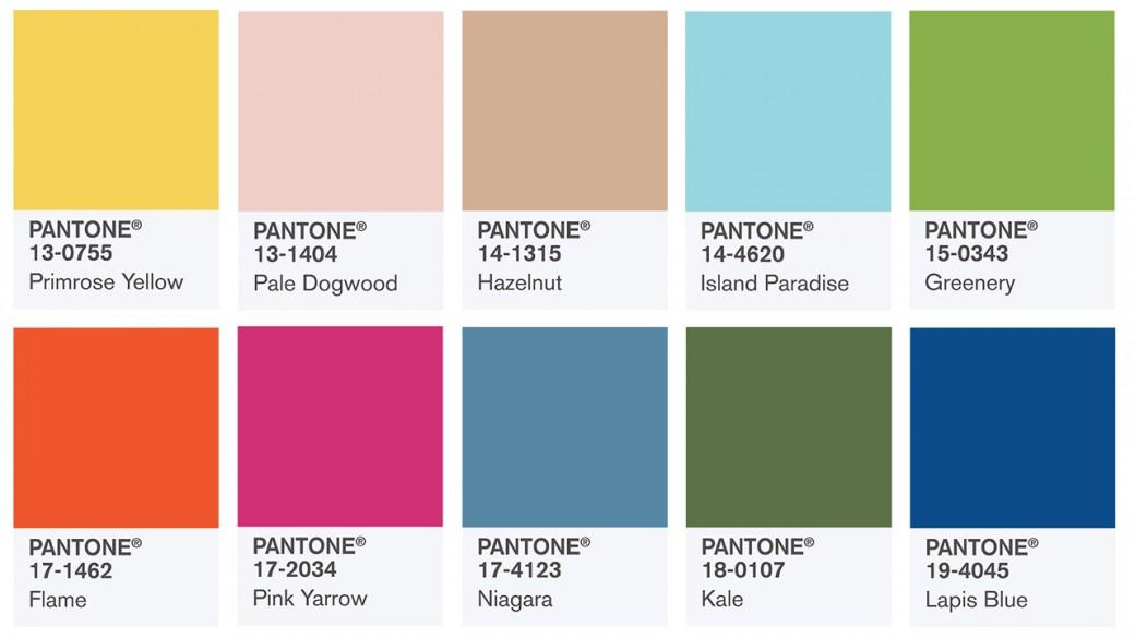 Spring colors report 2017 Pantone